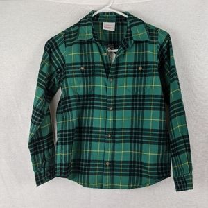 Hanna Andersson Green Flannel Shirt